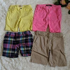Lot of 4 Girls Summer Shorts